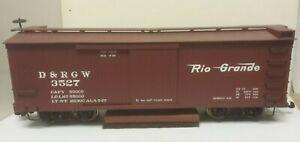 Denver Rio Grande Western Railroad Box Car w Track Clean Bachmann 93318 G Scale