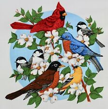 Garden Birds Applique Printed Panel Gifts Aprons Totes Quilting Quilts Cranston
