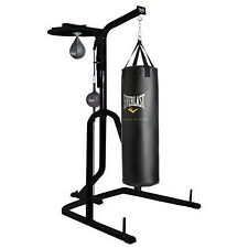 Everlast Three Station Heavy Duty Punching Bag Speed Stand Boxing MMA Steel Gym