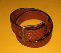 """ORION LEATHER CO. LIGHT BROWN MADE IN U.S.A. FULL GRAIN LEATHER BELT SIZE 26-28"""""""