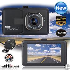 HD 1080P Dual Lens Camera Car DVR Vehicle Video Recorder Rear Dash Cam G-sensor