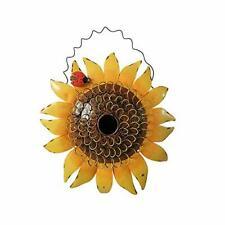 New listing Decorative Sunflower Birdhouse for Outside Hanging Bird House Metal with