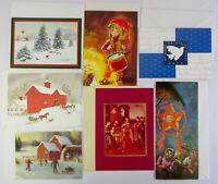 Vintage CHRISTMAS CARD LOT x7 Alemars Philippines, Federal Employees, Hallmark +