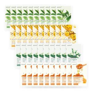 EUNYUL HONEY CUCUMBER COLLAGEN GREENTEA Natural Moisture Face MaskPack 40 Sheets