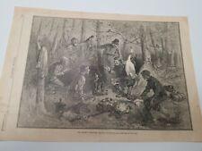 The Tramp's Paradise,Harper's  Weekly  Original  Woodblock (Nov.1st,1884)