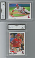 MIKE TROUT TOPPS ALL STAR ROOKIE #27 ROOKIE OF THE YEAR 2 CARD LOT GRADED MINT 9