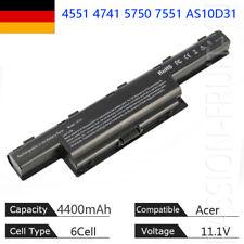 AKKU für Acer Aspire 4551 4741 5750 7551 7560 7750 AS10D31 AS10D51 DE