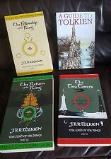 J R R TOLKIEN set of 3 books  & a guide to tolkien