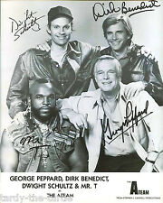 The A-Team  8 x 10 Autograph Reprint George Peppard Mr. T Dirk Benedict +1