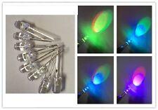 L25 - 10 Stk. RGB- LEDs  5mm  Regenbogen Farben langsamer farbwechsel
