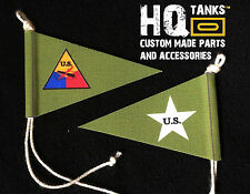 1/16 Scale Rc Tank  U.S. White Star & Tank Insig. Pennant for Heng Long / Tamiya