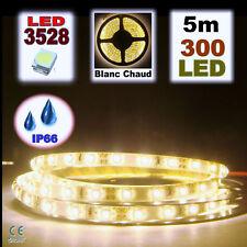 842/5# Ruban LED Blanc chaud étanche 300 LED 5m