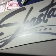 Shasta Travel Trailer Vintage style decal Silver