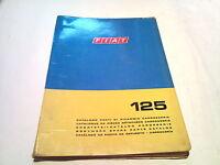Karosserie Ersatzteilkatalog für Fiat 125 catalogo parti di ricambio