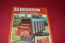 Hesston Forage Boxes & Silo Blowers Dealer's Brochure 700704233O LCOH