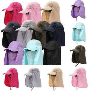 Men Women Summer Quick Dry Sun Protection Hat Outdoor Face Neck Cover Visor Cap