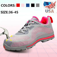 US Women's Safety Shoes Steel Toe Cap Work Protect Boots Outdoor Hiking Sneakers