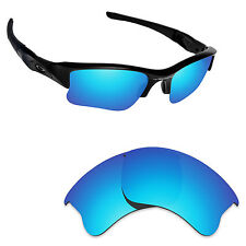 Hawkry Polarized Replacement Lenses for-Oakley Flak Jacket XLJ Ice Blue