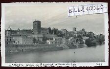 Cahors ( Lot )  quai de Regourd . photo ancienne . Juin 1946