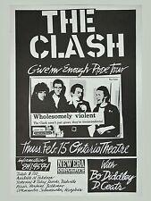 "The Clash Ontario 16"" x 12"" Photo Repro Concert Poster"