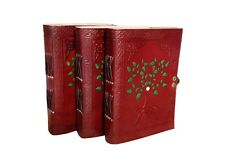 Leather Journal Diary Notebook Handmade Journal Blank Travel Notepad Lot of 3