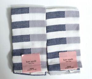 kate spade new york Set of 2 Springtime Yarn Dye Stripe Cloth Napkins Blue/Lilac