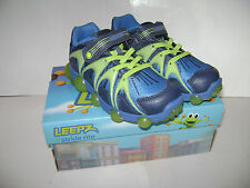 NIB Stride Rite Leepz Light Up Sneaker Boys Shoes size 8 M Blue Lime Leather