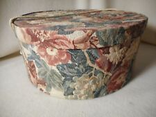 Hat Box Fabric Cover Vintage Look Hat Box-Lined Hatbox-NICE MUST SEE