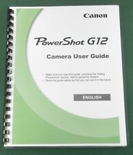 Canon PowerShot G12 Instruction Manual: Comb Bound & Protective Covers!
