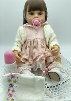 Toddler Reborn Baby Doll Realistic, 56cm Tall, 22' Girl Doll & Accessories, NEW