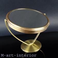 Tisch Spiegel Messing,Tischspiegel, Mid Century Brass Vanity Mirror, Italy 1950s
