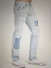 TRUE RELIGION GENO NO FLAPS SUPER-T MEN JEAN PATCHED IN  MJ19NWV8 NWT 38W $399
