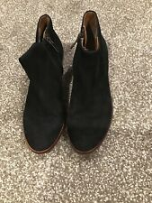 Sam Edelman Petty Chelsea Boots Black Suede Leather Ankle Booties Size 6