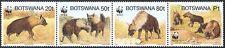 Botswana 1995 WWF/Hyena/Animals/Nature/Wildlife/Conservation 4v strp (n16720)