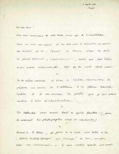 """Hans BELLMER - Lettre autographe signée à André BRETON à propos de sa """"Poupée"""""""
