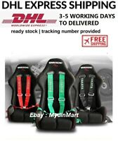 """TAKATA 4/5/6 Point Snap-On 3"""" With Camlock Racing Seat Belt Harness Universal"""
