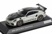 1:43 MINICHAMPS 2018 PORSCHE 911 991 II GT3 RS Weissach Package chalk DEALER !!!