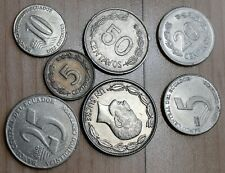 Lot of 7 Different Ecuador Coins