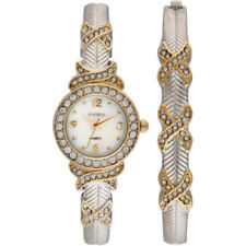 Elgin Women's Watch And Bangle Set, Two Tone