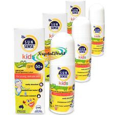 3x Sunsense Kids Latte spf50 Roll-on Protezione Alta Per i giovani della pelle 50ml