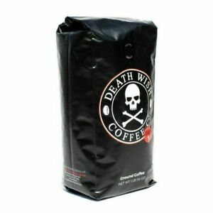 DEATH WISH GROUND COFFEE Organic TWO 1 LB Bags - STRONGEST - FREE SHIPPING!
