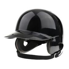 Black Batting Helmet  Cert. Pro Double Flap Baseball/Softball Helmet