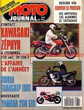 MOTO JOURNAL  975 Essai KAWASAKI 750 Zéphyr YAMAHA TZR 250 HONDA XL 600 Transalp
