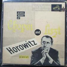 "Vladimir Horowitz - Piano Music of Chopin & Liszt Box Set 3x7"" VG+ Red 45 RCA"