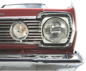 Parking Light Lenses with Gaskets for 1966 Plymouth B-Body