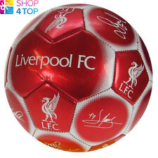 LIVERPOOL FC SIGNATURE RED BALL SIZE 5 PANEL 32 OFFICIAL FOOTBALL SOCCER CLUB