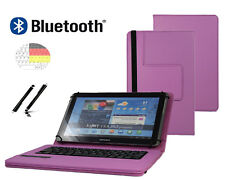 "Tastatur Hülle für Samsung Galaxy Tab 2 P5110 Bookcover BT Lila 10.1"""