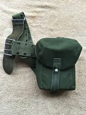 vintage webbing side pouch  army surplus mod miliary fishing hunting shooting