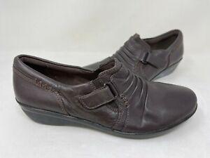 NEW! Clarks Women's Everlay Coda Comfort Cushioned Loafers Brown #13288 203B tz