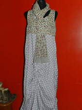 Women's IAN MOSH Gray Gathered Asymmetrical DRESS w/ Sash/Scarf NWT Size 5 US 14